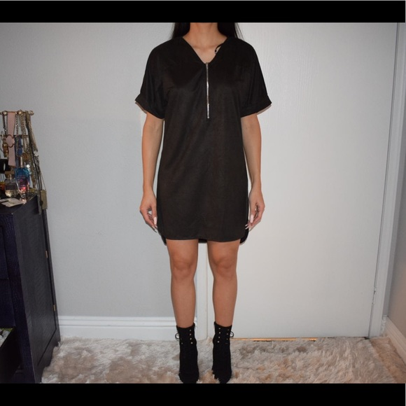 Missguided Dresses & Skirts - Suede T-shirt dress